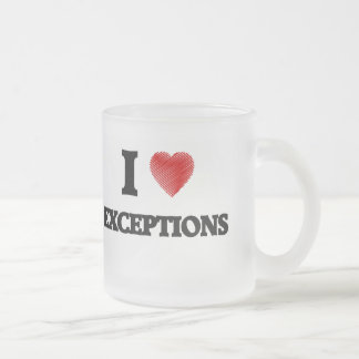 I love EXCEPTIONS Frosted Glass Coffee Mug