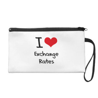 I love Exchange Rates Wristlet Clutch