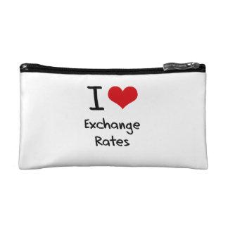 I love Exchange Rates Cosmetic Bags