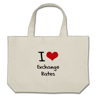 I love Exchange Rates Tote Bags