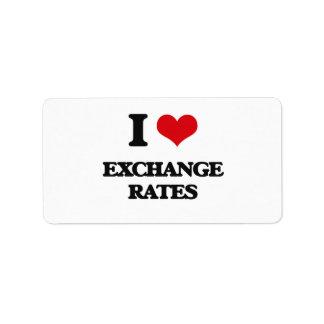 I love EXCHANGE RATES Personalized Address Label