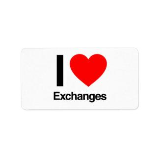 i love exchanges custom address label