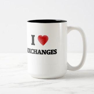 I love EXCHANGES Two-Tone Coffee Mug