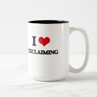 I love EXCLAIMING Two-Tone Coffee Mug