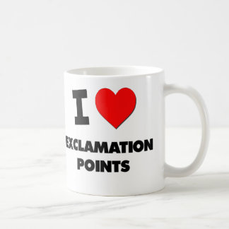 I love Exclamation Points Classic White Coffee Mug