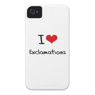 I love Exclamations Case-Mate iPhone 4 Cases
