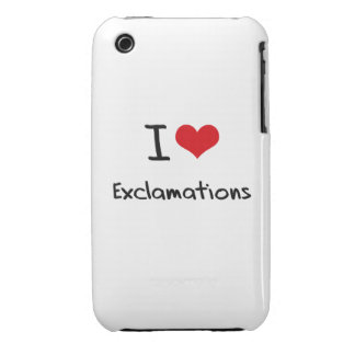 I love Exclamations iPhone 3 Covers