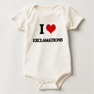 I love EXCLAMATIONS Rompers