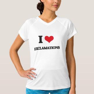 I love EXCLAMATIONS Tshirt