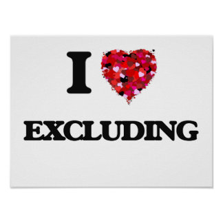 I love Excluding Poster