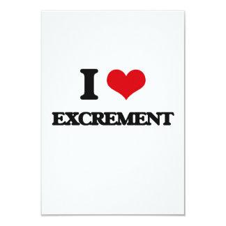 I love EXCREMENT 3.5x5 Paper Invitation Card