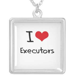 I love Executors Personalized Necklace
