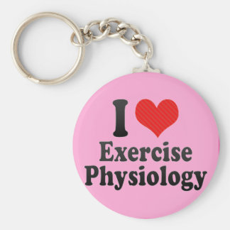 I Love Exercise Physiology Basic Round Button Keychain