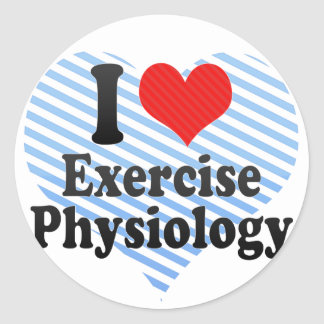 I Love Exercise Physiology Classic Round Sticker