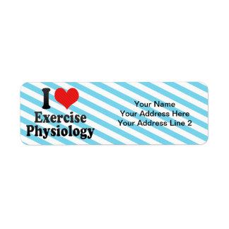 I Love Exercise Physiology Return Address Label