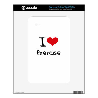 I love Exercise Samsung Galaxy Tab Decal