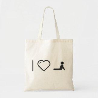 I Love Exercising Bendings Budget Tote Bag