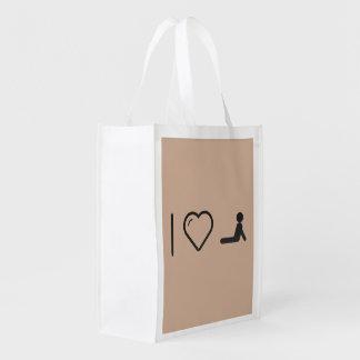 I Love Exercising Bendings Grocery Bags
