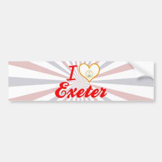I Love Exeter, Rhode Island Bumper Stickers