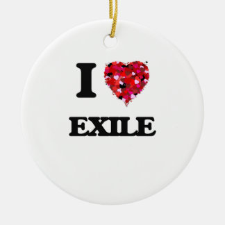 I love Exile Double-Sided Ceramic Round Christmas Ornament
