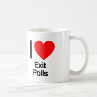 i love exit polls coffee mug