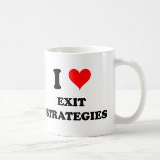 I Love Exit Strategies Classic White Coffee Mug