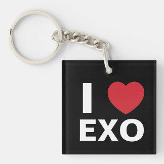 I Love Exo Keychain (dual side)
