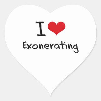 I love Exonerating Heart Sticker