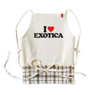 I LOVE EXOTICA ZAZZLE HEART APRON
