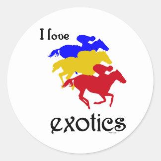 I Love Exotics Sticker