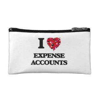 I love Expense Accounts Cosmetics Bags