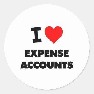 I love Expense Accounts Round Stickers