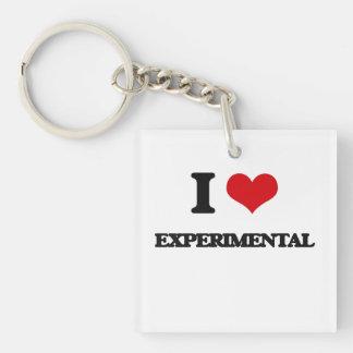 I Love Experimental Single-Sided Square Acrylic Keychain