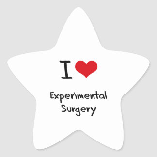 I love Experimental Surgery Star Stickers