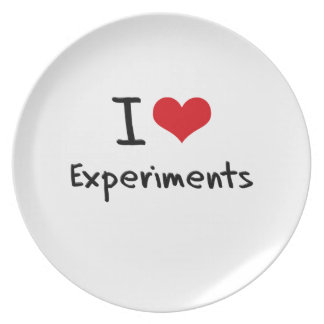 I love Experiments Dinner Plates