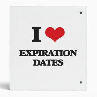 I love EXPIRATION DATES Binders