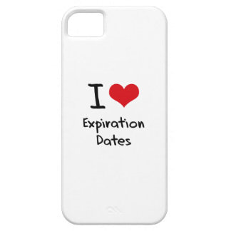 I love Expiration Dates Cover For iPhone 5/5S