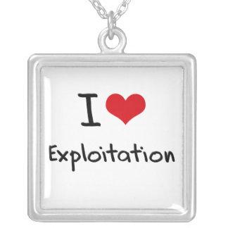 I love Exploitation Custom Necklace