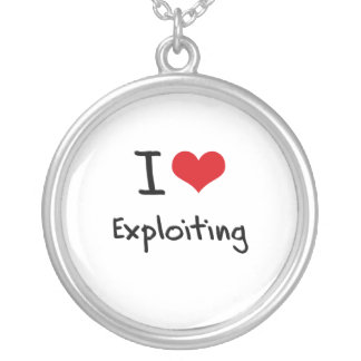 I love Exploiting Personalized Necklace