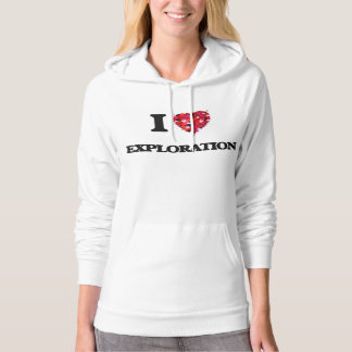 I Love Exploration Hooded Pullovers