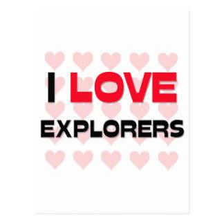 I LOVE EXPLORERS POSTCARDS