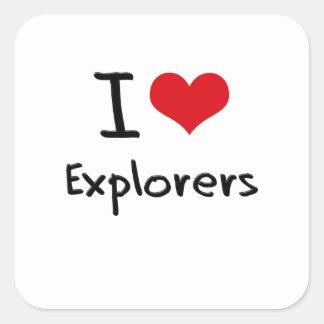 I love Explorers Sticker