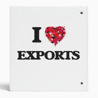 I love Exports 3 Ring Binder