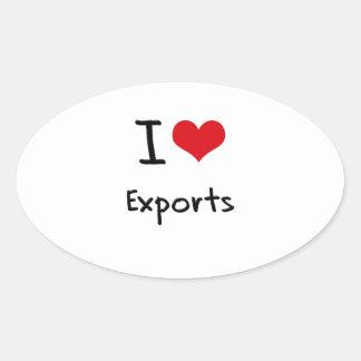 I love Exports Oval Sticker