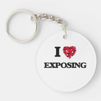I love Exposing Single-Sided Round Acrylic Keychain
