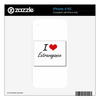 I love extravagance decal for iPhone 4