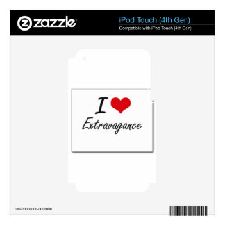I love extravagance iPod touch 4G decal