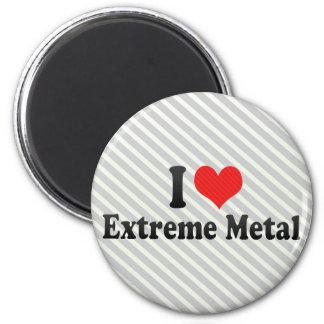 I Love Extreme Metal Refrigerator Magnets