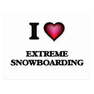 I Love Extreme Snowboarding Postcard