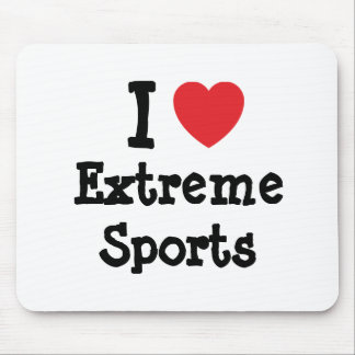 I love Extreme Sports heart custom personalized Mouse Pad